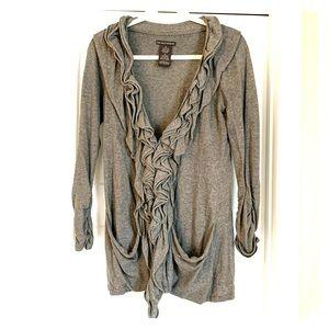 Dressy grey women's sweater M